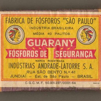 """Guarany"" Matchbox - Brazil - Tobacciana"
