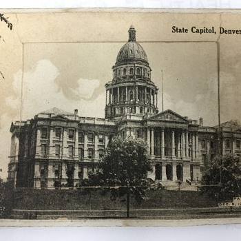 1905  State Capitol  Denver Colorado fold out postcards + Message