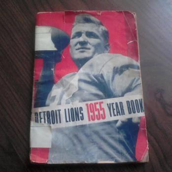 1955 Detroit Lions Year Book - Football