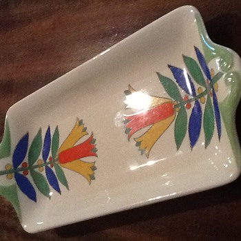 Royal Doulton Art Deco sandwich plate. - Pottery