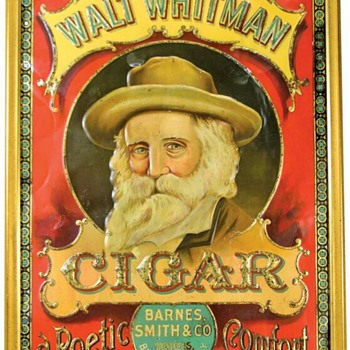 Walt Whitman cigar tin box - Tobacciana