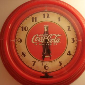 Neon Coke Clock - Coca-Cola