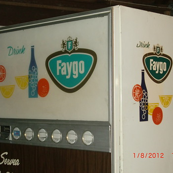 Faygo vending Machine - Coin Operated