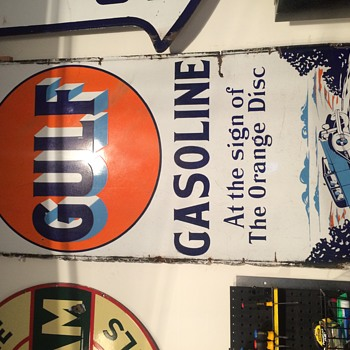 Early gulf sign - Petroliana