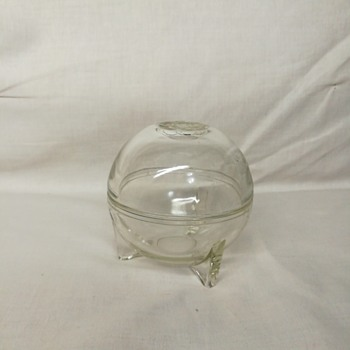 Art deco glass orb dish