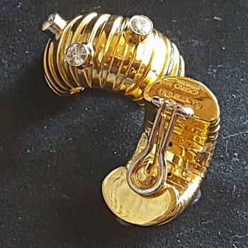 Rare 20kt weingrill earrings - Fine Jewelry