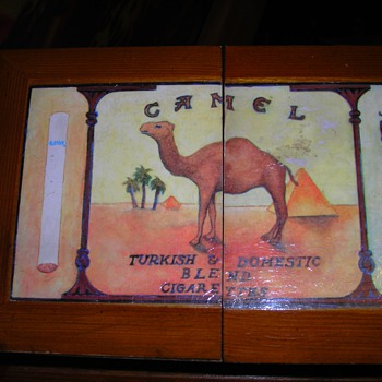 Camel brand large wooden cigarette display box - Tobacciana