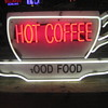 Vintage / Neon HOT COFFEE  sign