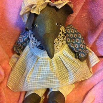 Vintage Stuffed Elephant ?? - Dolls