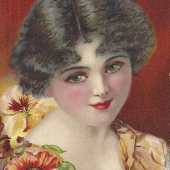 GLAMOUR GIRL EYES 1920  - Postcards