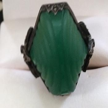 Art Deco Silver Ring