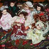 MINIATURE DOLLS & RUG