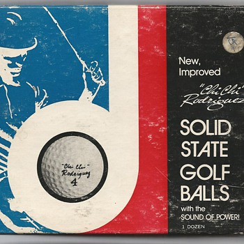 """The """"Chi Chi"""" Rodríguez Solid State Signature Golf Ball, circa 1964. - Sporting Goods"""