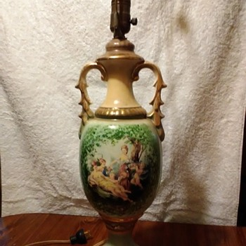 Vintage Hand Painted Lamp I see marking can you tell me what i have? - Lamps