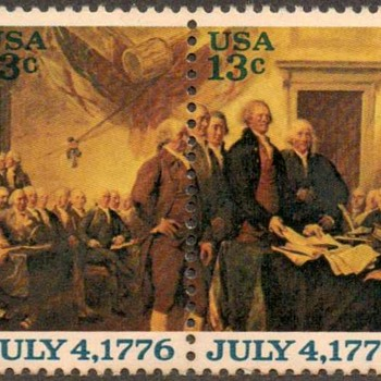 "1976 - ""Declaration of Independence"" Postage Stamps (US) - Stamps"