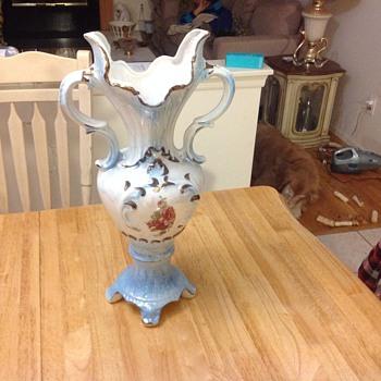 large floral vase  - Pottery