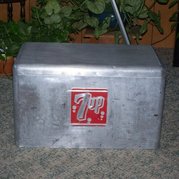 1950's Aluminum 7up Cooler by Cronstoms