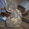 Very Old/Antique Wood Carving Of The Madonna(Mary)Baby(Jesus) Sign Villa Luis