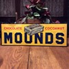 "Sometimes you feel like a nut, sometimes you don't. N.O.S. 1930's Embossed Peter Paul's Chocolate Cocoanut ""MOUNDS"" bar 5 cents"