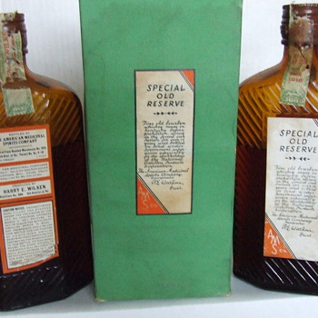 95 year old  bourbon whiskey bottles unopened - Bottles