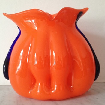 """Kralik tango organic """"organ"""" shaped vase - Art Glass"""