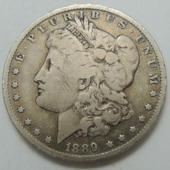 1889 U.S. Silver Dollar - US Coins