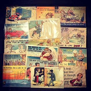 Assorted Vintage Postcards - Postcards