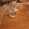 Large Italian Signed Crystal Paperweight