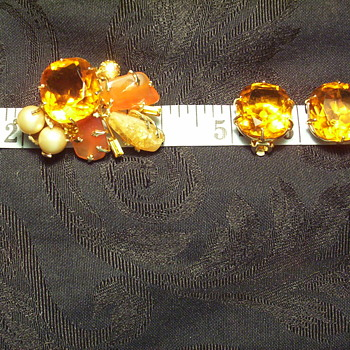 Vintage pin & earrings I inherited - Costume Jewelry