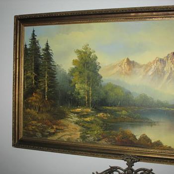 19th century Californian Art - Plein air Painting of Mount Shasta - Victorian Era