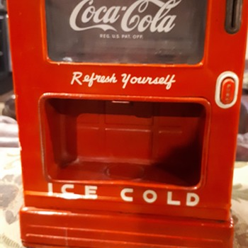 1950's Coca Cola tin toy dispenser  - Coca-Cola