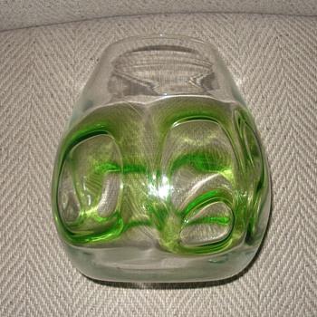 blown glass vase - Art Glass