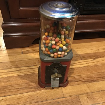 Antique 1  Cent GumBall  Machine - Coin Operated