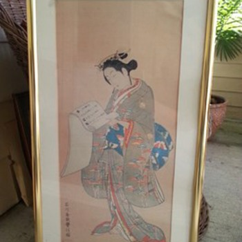 2 Japanese lady print