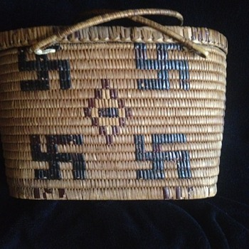 1900 Pima Indian Picnic Basket - Native American