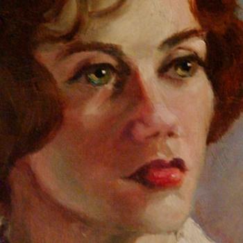 """1960s Lady Portrait By """"Finn"""" - Fine Art"""