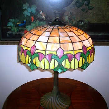 Wilkinson Leaded Art Glass Table Lamp c.1920's. - Art Glass