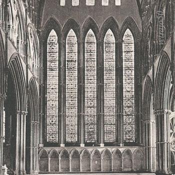 YORK MINSTER, FIVE SISTERS' WINDOW. c. 1885. - Postcards