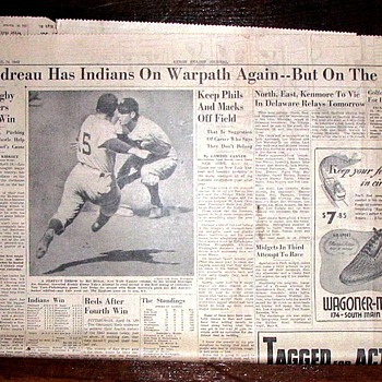 WWII newspapers 4 - Baseball