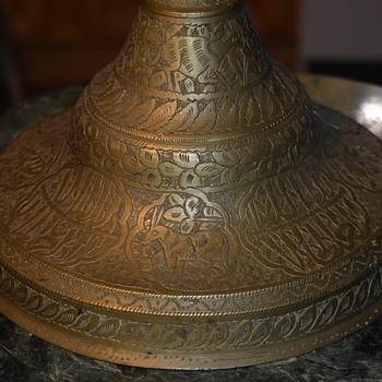 Very tall candlestick with Arabic writing on it. - Lamps