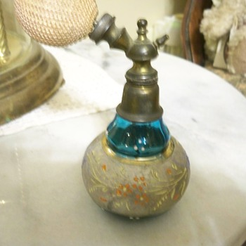 Enamel painted Victorian Perfume Bottle - Bottles