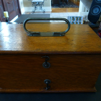 Antique oak  medical device box! - Tools and Hardware