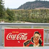 Coca Cola masonite sign