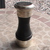 Really Neat salt and pepper mill in 1 Sterling wood.