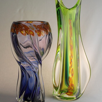 Multi Glass vases with millefiori -part 2 - Art Glass