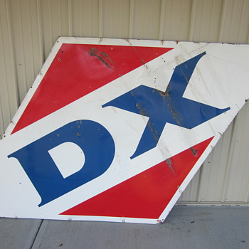1959 Porcelain DX sign - Petroliana