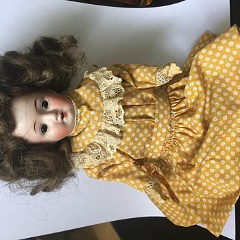 Antique German Bisque Composition Doll