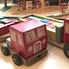Mystery vintage wooden toy trucks
