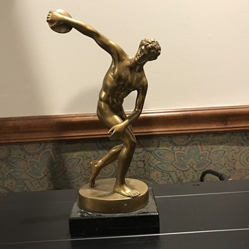 Bronze discus thrower - Art Deco