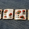 Mid-century modern enameled panel bracelet